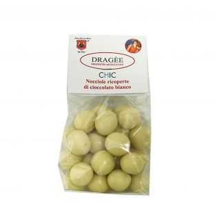 Dragee Toasted hazelnuts covered with white chocolate