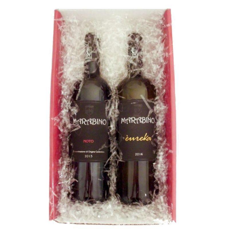 Black and White wine Gift Box
