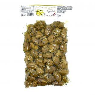 Olive verdi schiacciate Prezzemolate