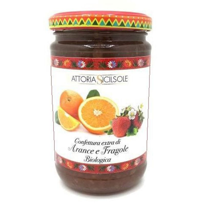 Organic Oranges and Strawberries Extra Jam