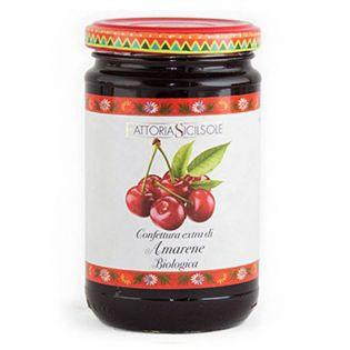 Extra Jam Sour Black Cherries of Sicily ORGANIC