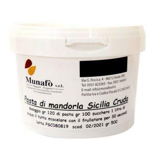 Pasta di Mandorla Sicilia Pelata Cruda 500 grammi  - Semilavorato per latte di mandorla