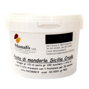 """""""Sicilian Raw Almonds Paste"""" - Base for Almond Milk - Semi-finished product 500 grams"""