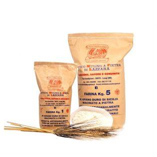 Sicilian durum wheat tumbled flour 1 Kg
