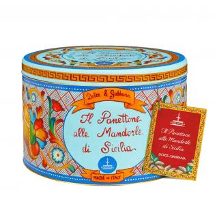 Panettone with Sicilian Almonds by Fiasconaro and Dolce & Gabbana - 1 kg