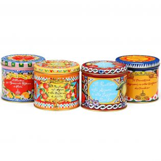 Panettone with Sicilian Citrus fruits and Saffron in an elegant tin By D&G. - 100g