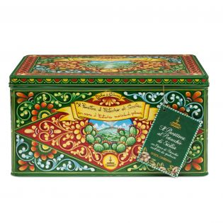 Panettone with Sicilian Pistachio in an elegant tin By D&G. - 1 Kg