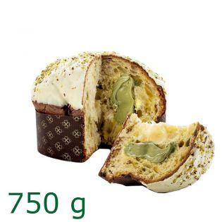 Panettone stuffed with Pistachio cream 750g - Gocce di Sicilia
