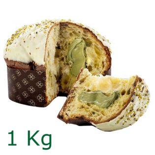 Panettone stuffed with Pistachio cream 1 kg - Gocce di Sicilia