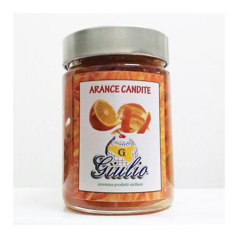 Scorzette di arancia candita ricoperte con cioccolato