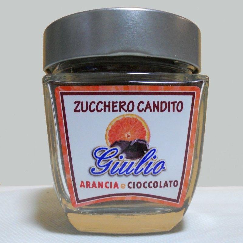 Zucchero candito arancia e cioccolato