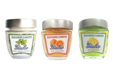 Zucchero candito agli agrumi o alle spezie.