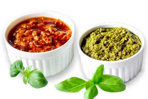 Sicilian pesto and pesto sauce from Sicily
